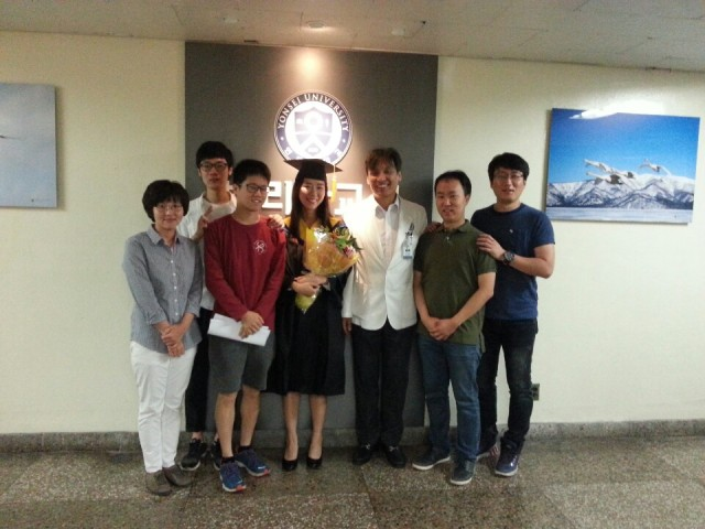 the graduation day of JE Kim